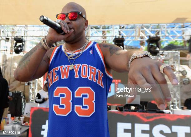 Rapper Flo Rida performs at JBL Poolside one of the many events a part of JBL Fest an exclusive threeday music experience hosted by JBL at the Hard...