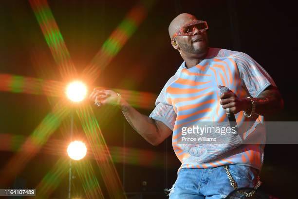 Rapper Flo Rida performs at Nelly TLC and Flo Rida In Concert Atlanta GA at Cellairis Amphitheatre at Lakewood on July 24 2019 in Atlanta Georgia