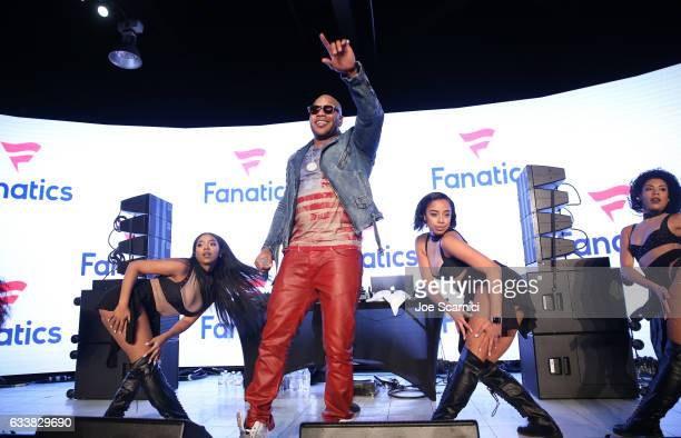 Rapper Flo Rida performs at the Fanatics Super Bowl Party at Ballroom at Bayou Place on February 4 2017 in Houston Texas