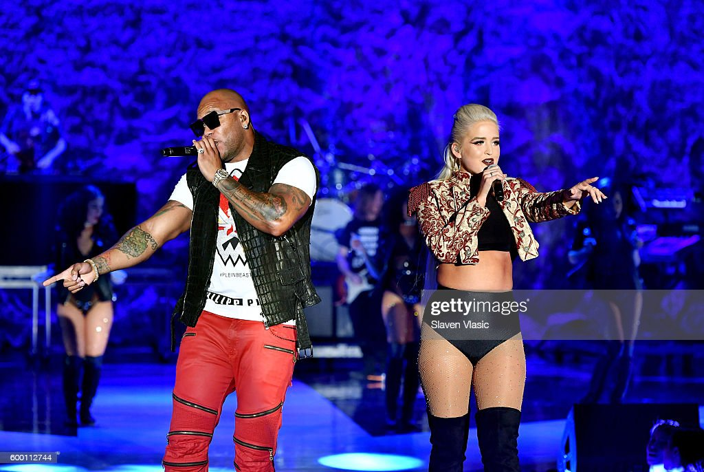 Rapper Flo Rida performs onstage as Macy's Presents Fashion's Front Row kicks-off New York Fashion Week at The Theater at Madison Square Garden on September 7, 2016 in New York City.