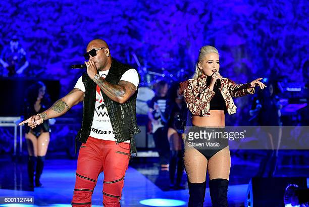 Rapper Flo Rida performs onstage as Macy's Presents Fashion's Front Row kicks-off New York Fashion Week at The Theater at Madison Square Garden on...