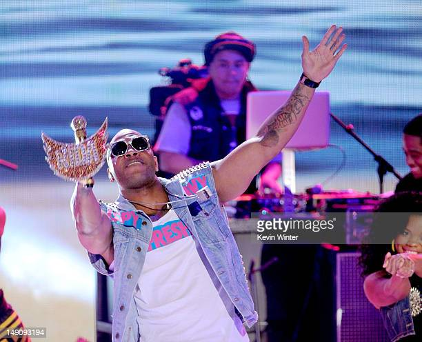 Rapper Flo Rida performs onstage during the 2012 Teen Choice Awards at Gibson Amphitheatre on July 22 2012 in Universal City California