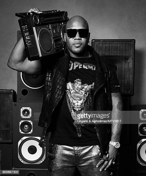 Rapper Flo Rida poses for a portrait at the 2016 MTV Video Music Awards at Madison Square Garden on August 28 2016 in New York City