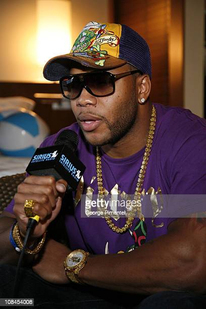 Rapper Flo Rida visits 'The Artist Sanctuary presented by SIRIUS Satellite Radio and produced by Know Affiliation' on June 15 2008 at the Hotel Le...