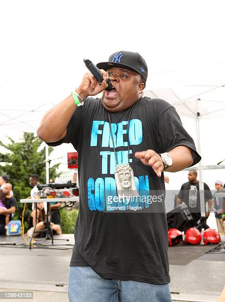 Rapper Fred the Godson performs druing the Bronx Flavor End of Summer Live at Barretto Point Park on September 25, 2011 in the Bronx borough of New...