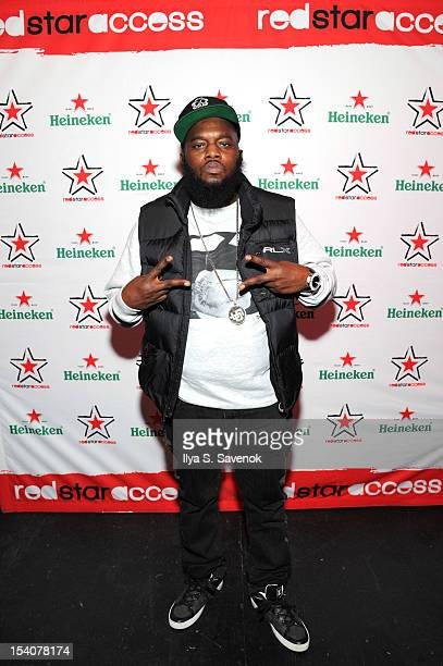 Rapper Freeway attends Heineken Red Star Access Philadelphia featuring Nas Wale and QTip at The Electric Factory on October 13 2012 in Philadelphia...