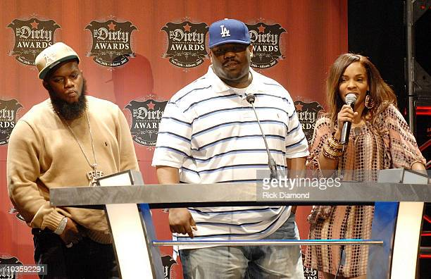Rapper Freeway Beanie Sigel and Free are presenters at The Dirty Awards 3 presented by Radio One's HOT 1079 at the Georgia World Congress Center In...