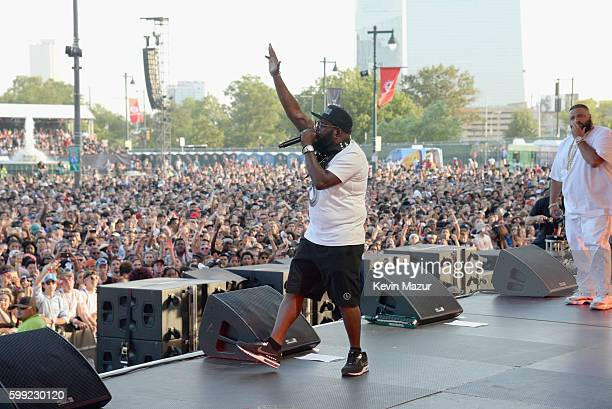 Rapper Freeway performs onstage during the 2016 Budweiser Made in America Festival at Benjamin Franklin Parkway on September 4 2016 in Philadelphia...