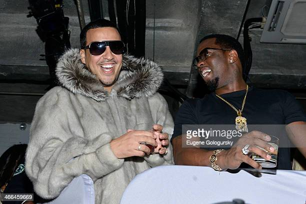 Rapper French Montana and PDiddy attend Time Warner Cable Studios and Revolt Bring the Music Revolution event on February 1 2014 in New York City