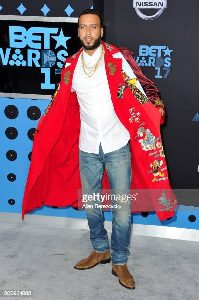 Rapper French Montana arrives at the 2017 BET Awards at Microsoft Theater on June 25 2017 in Los Angeles California