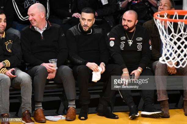 Rapper French Montana attends a basketball game between the Los Angeles Lakers and the Houston Rockets at Staples Center on February 21 2019 in Los...