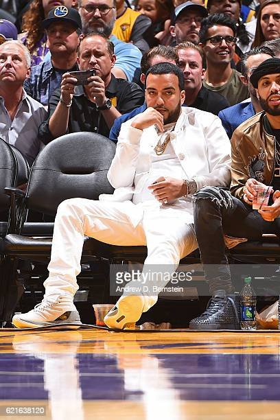 Rapper French Montana attends the Golden State Warriors game against the Los Angeles Lakers on November 4 2016 at STAPLES Center in Los Angeles...