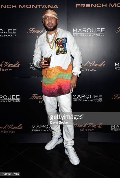 Rapper French Montana attends the launch of CIROC French Vanilla at the Marquee Nightclub at The Cosmopolitan of Las Vegas on September 2 2017 in Las...