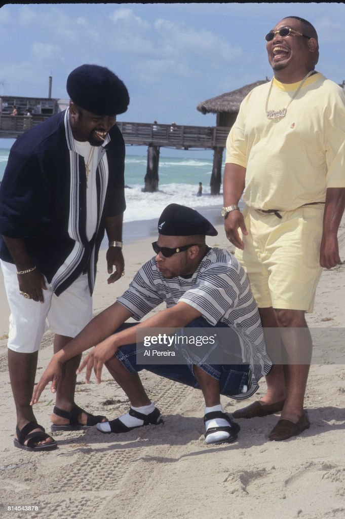 Rapper Fresh Kid Ice (aka Christopher Wong Won) and The 2 Live Crew are seen filming the 'Shake A Lil' Somethin'' video in June of 1996 in South Beach neighborhood of Miami Beach, Florida. Wong Won died on July 13, 2017 in Miami. (l to r: Mr. Mixx; Brother Marquis; Fresh Kid Ice).