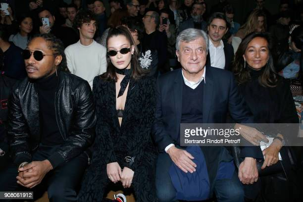 Rapper Future aka Nayvadius DeMun Wilburn Model Bella Hadid Outgoing CEO of Dior Sidney Toledano and his wife Katia Toledano attend the Dior Homme...