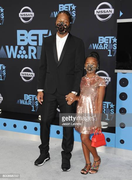 Rapper Future and daughter Londyn Wilburn attend the 2017 BET Awards at Microsoft Theater on June 25 2017 in Los Angeles California