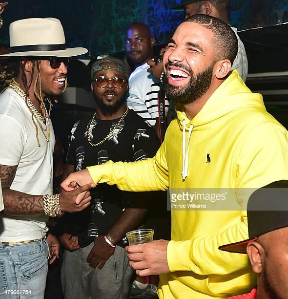 Rapper Future and Drake attend at Compound on June 20 2015 in Atlanta Georgia