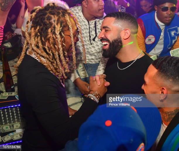 Rapper Future and Drake attend Future's 'Future City' Birthday Party at Magic City on November 20 2018 in Atlanta Georgia