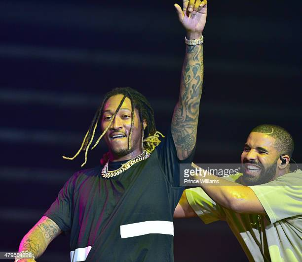 Rapper Future and Drake perform at Hot 1079 Birthday Bash Block Show at Philips Arena on June 20 2015 in Atlanta Georgia