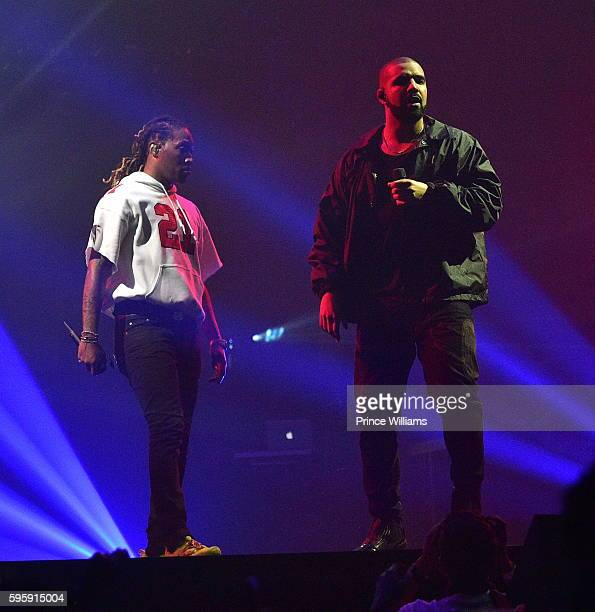 Rapper Future and Drake perform at the Summer 16 Concert at Philips Arena on August 25 2016 in Atlanta Georgia