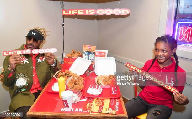 Rapper Future and Londyn Wilburn attend Future Presents Hotlanta's Life is Good on January 18 2020 in Atlanta Georgia