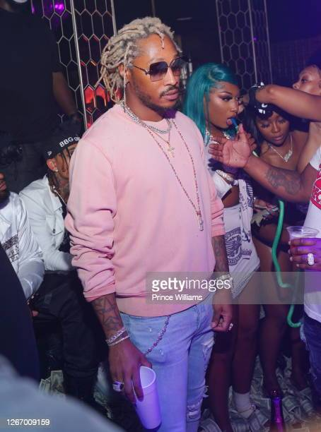 Rapper Future and Megan Thee Stallion attend Allure Monday Nights at Allure Gentlemen's Club on August 17, 2020 in Atlanta, Georgia.