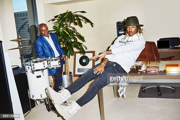 Rapper Future and record producer LA Reid are photographed for Billboard Magazine on November 3 2015 at Sony Music Entertainment in New York City