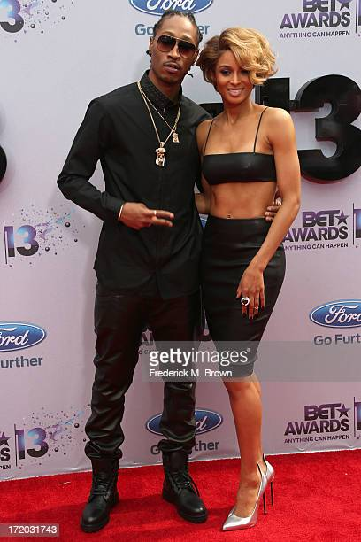 Rapper Future and singer Ciara attend the 2013 BET Awards at Nokia Theatre LA Live on June 30 2013 in Los Angeles California