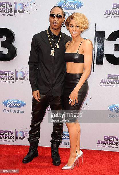 Rapper Future and singer Ciara Harris attend the 2013 BET Awards at Nokia Theatre LA Live on June 30 2013 in Los Angeles California