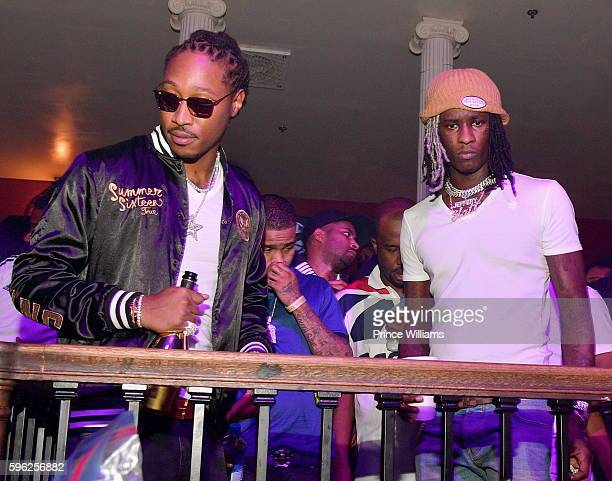 Rapper Future and Young Thug attend the Summer Sixteen Concert after Party at The Mansion Elan on August 27 2016 in Atlanta Georgia