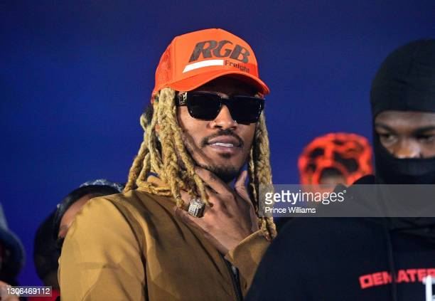 Rapper Future attends Basketball Takeover Party at The Dome Atlanta on March 5, 2021 in Atlanta, Georgia.
