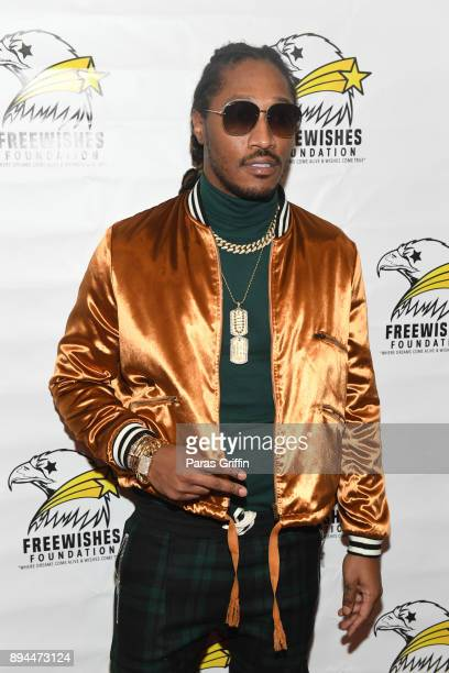 Rapper Future attends the 5th Annual FreeWishes Foundation A Winter Wishland at Bessie Branham Park on December 17 2017 in Atlanta Georgia