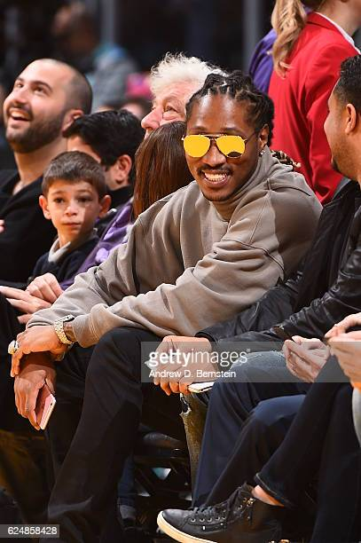 Rapper Future attends the San Antonio Spurs game against the Los Angeles Lakers on November 18 2016 at STAPLES Center in Los Angeles California NOTE...