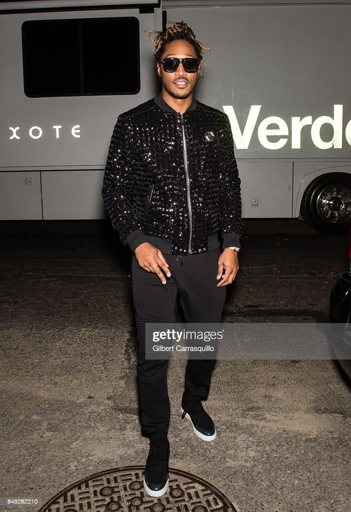 ee0cd342604 Rapper Future is seen leaving the Philipp Plein fashion show during ...