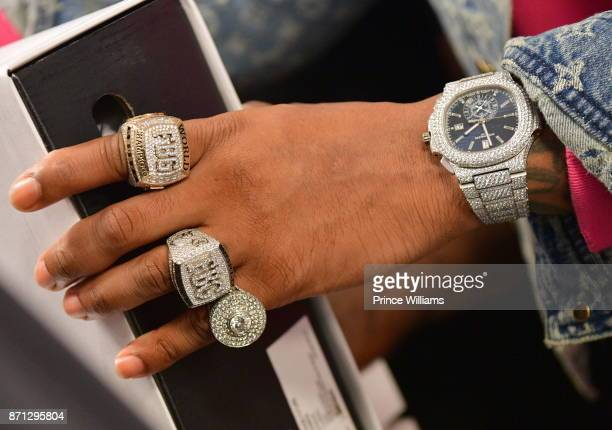 Rapper Future Jewelry Detail attends Future Reebok 'Pluto' Shoe Release at Jeffrey on November 6 2017 in Atlanta Georgia