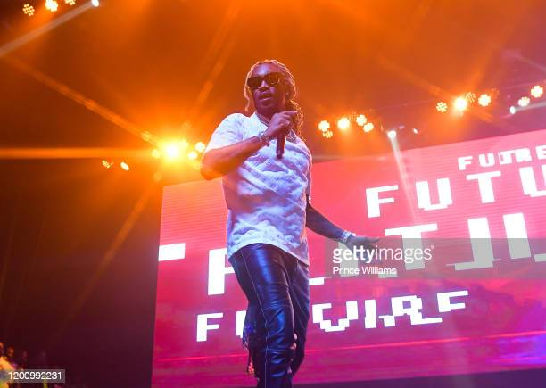 Rapper Future performs at No Place Like Home Concert Featuring Future Lil Baby at Coca Cola Roxy on January 19 2020 in Atlanta Georgia