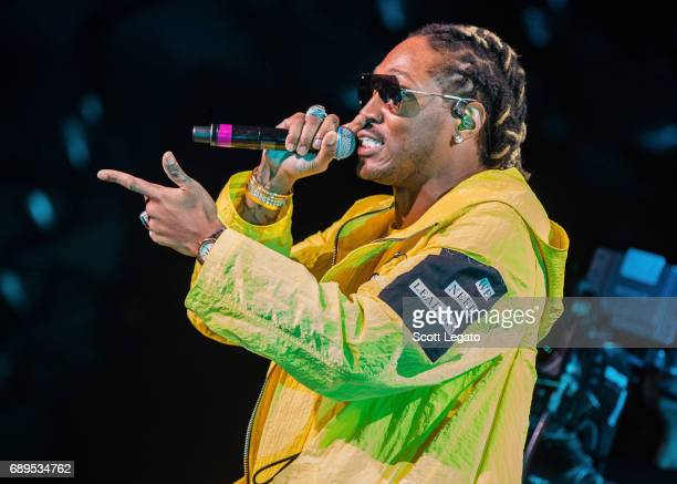 Rapper Future performs in support of his Nobody Safe Tour at DTE Energy Music Theater on May 28, 2017 in Clarkston, Michigan.