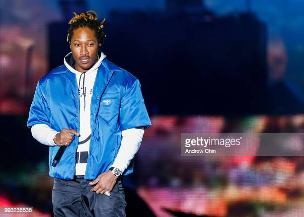 Rapper Future performs on stage during Day 1 of FVDED In The Park at Holland Park on July 6, 2018 in Surrey, Canada.