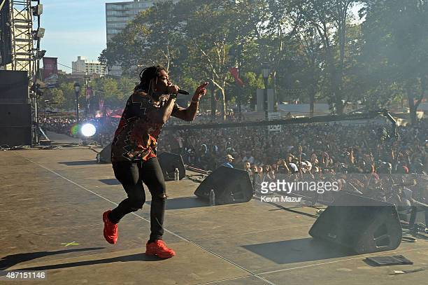 Rapper Future performs onstage during the 2015 Budweiser Made in America Festival at Benjamin Franklin Parkway on September 6 2015 in Philadelphia...