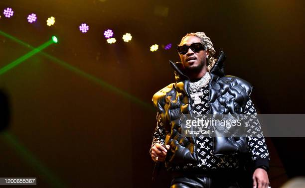 """Rapper Future performs onstage during the """"No Place Like Home"""" tour at Coca Cola Roxy on January 19, 2020 in Atlanta, Georgia."""