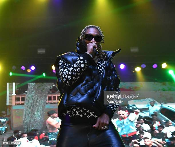 Rapper Future performs onstage during the No Place Like Home tour at Coca Cola Roxy on January 19 2020 in Atlanta Georgia