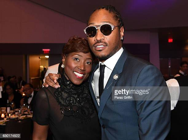 Rapper Future with his mother Stephanie Jester attend 33rd Annual UNCF Mayor's Masked Ball at Atlanta Marriott Marquis on December 17 2016 in Atlanta...