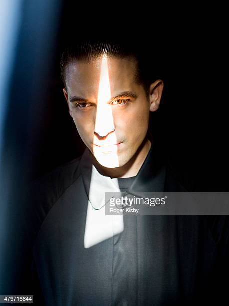 Rapper G Eazy poses for a portrait backstage at The FADER FORT Presented by Converse during SXSW on March 18 2015 in Austin Texas