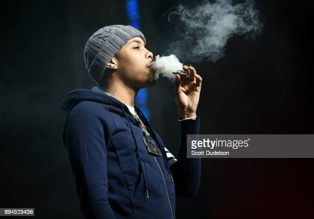Rapper G Herbo performs onstage during day two of the Rolling Loud Festival at NOS Events Center on December 17 2017 in San Bernardino California