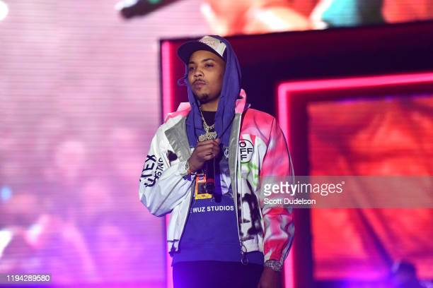 Rapper G Herbo performs onstage during the Juice WRLD tribute at day 2 of the Rolling Loud Festival at Banc of California Stadium on December 15 2019...