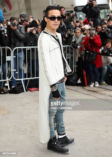 Rapper GDragon attends the Chanel show on day 3 of Paris Fashion Week Haute Couture S/S 2015 on January 27 2015 in Paris France