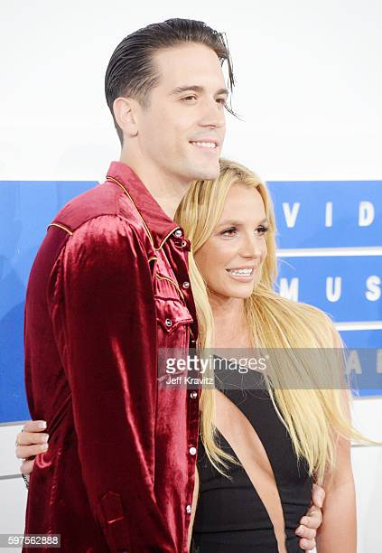 Rapper G-Eazy and Britney Spears attend the 2016 MTV Video Music Awards at Madison Square Garden on August 28, 2016 in New York City.
