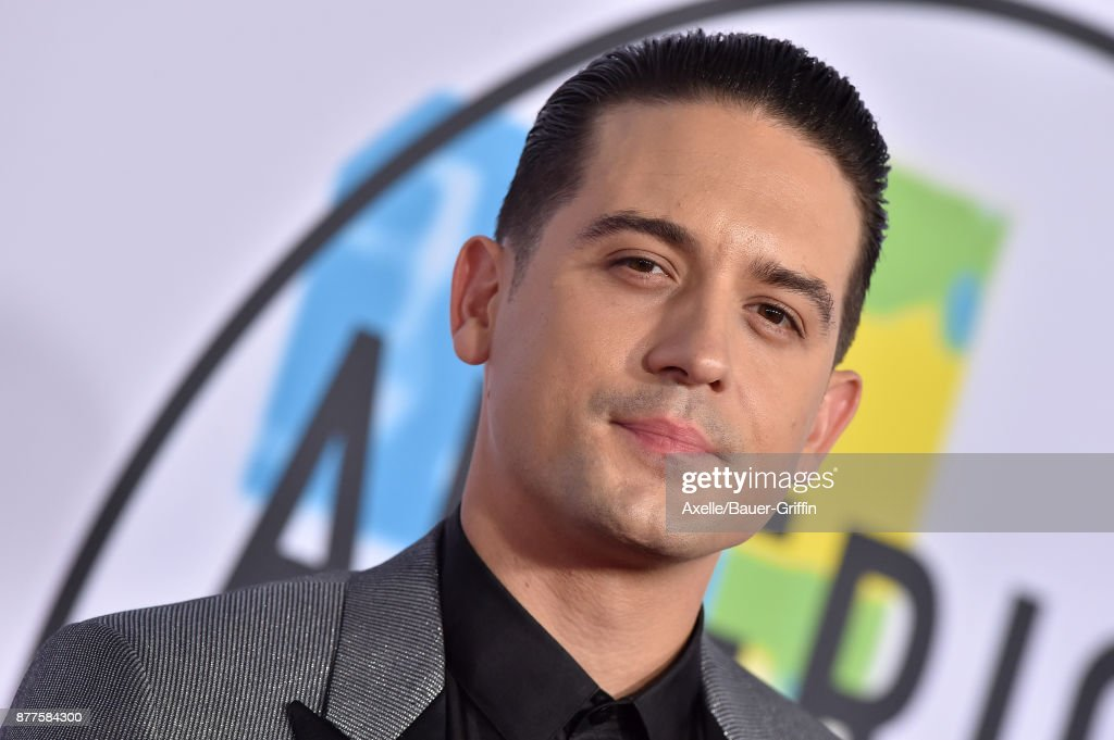 Rapper G-Eazy arrives at the 2017 American Music Awards at Microsoft Theater on November 19, 2017 in Los Angeles, California.