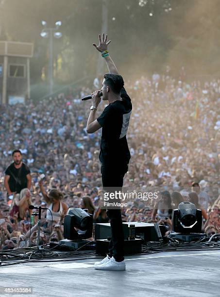 Rapper GEazy performs at the Twin Peaks Stage during day 2 of the 2015 Outside Lands Music And Arts Festival at Golden Gate Park on August 8 2015 in...