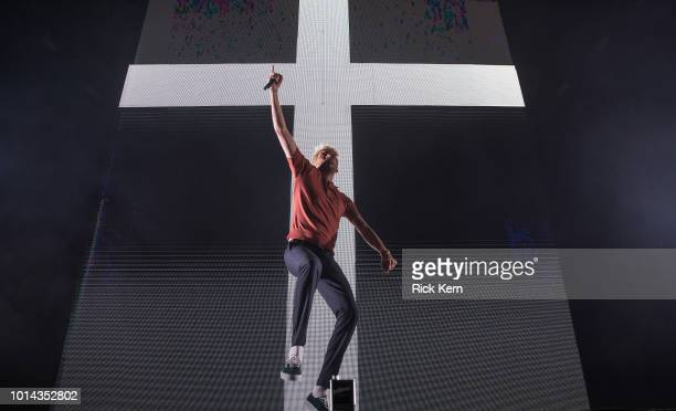Rapper G-Eazy performs onstage during the 'Endless Summer Tour' at Austin360 Amphitheater on August 9, 2018 in Austin, Texas.